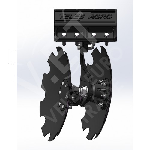 Компактная дисковая борона KRONOS 6 с ножевыми катками прицепная