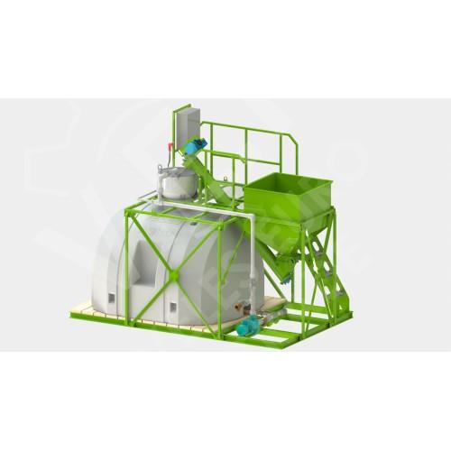 Узел для приготовления жидких концентрированных удобрений