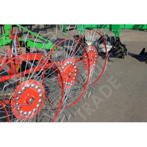 Грабли-ворошилки 4 колеса PZK-4 (Agromech, Польша)