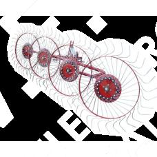 Грабли-ворошилки 5 колес PZK-5 (Agromech, Польша)