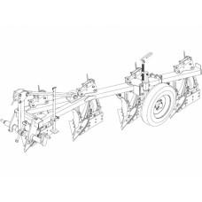 Плуг трехкорпусный навесной PNVB 3‒40+1 с предплужником