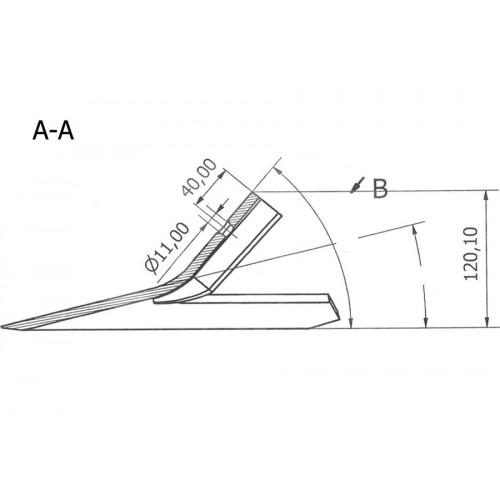 Лапа Bourgault 310 мм