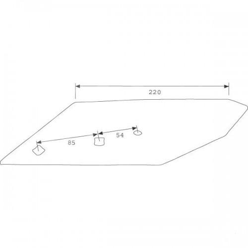 Долото B2SR правое с напайкой (3364150)