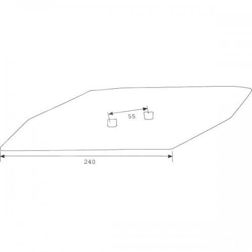 Долото S2WR правое двухстороннее (15 мм) (3365540)