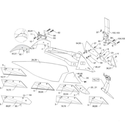Клин полевой доски AK12W (3401903)