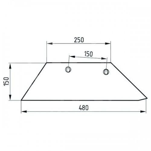 Лемех плуга правый 1400-C16 D (85384)