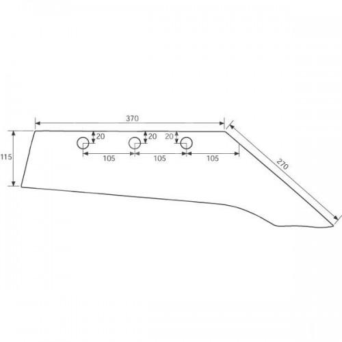 Лемех плуга правый M22S (3333810)