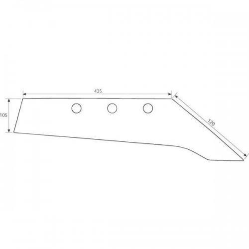 Лемех плуга правый M24S (3333812)