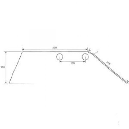 Лемех плуга правый SB45D (3352130)