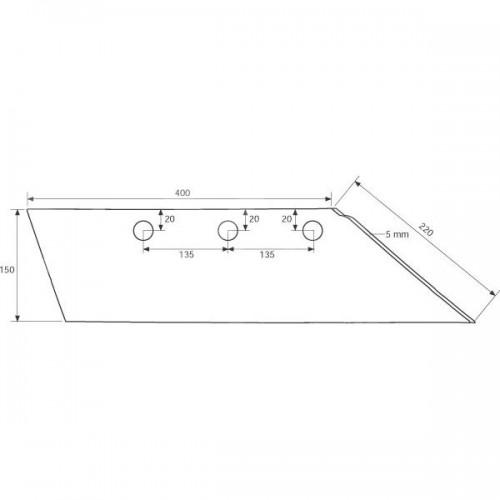 Лемех плуга правый SB56D (3352134)