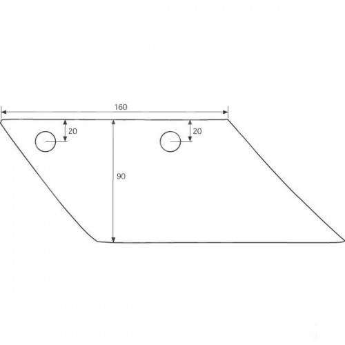 Лемех предплужника правый S150R (3363712)