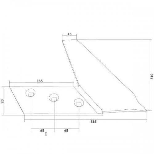 Нож полевой доски левый BP233 (27083002)