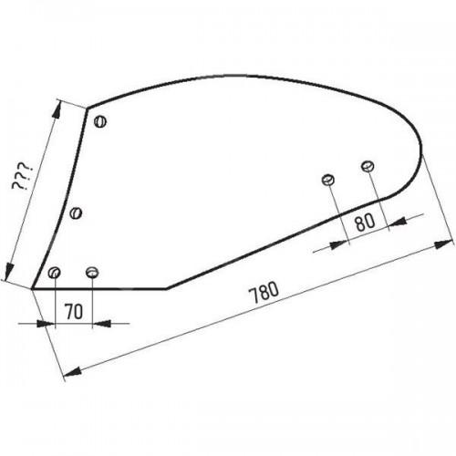 Отвал плуга левый 1876 I (UN400-PK400202)
