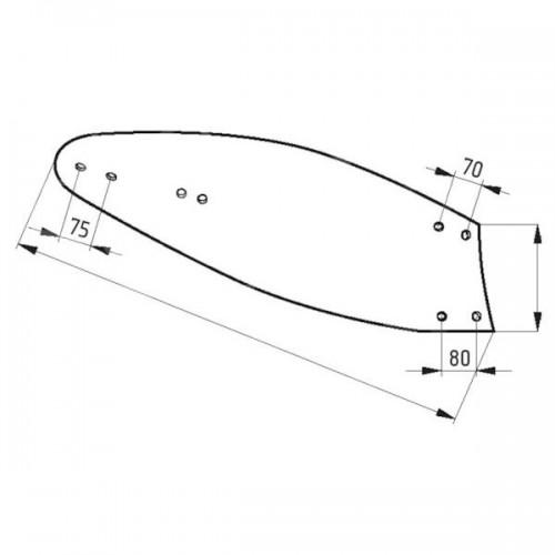 Отвал плуга правый 1848D (94594)