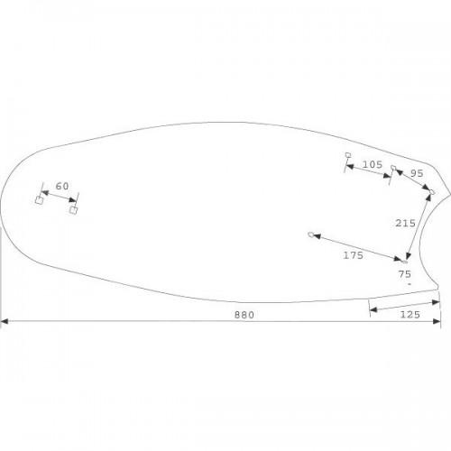 Отвал плуга правый B35 (3441034)