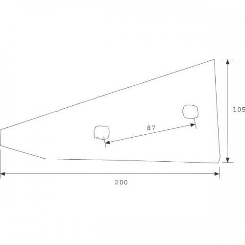 Полевая доска короткая YP350W (27510205)