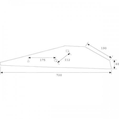Полевая доска правая длинная 2293D (053683)