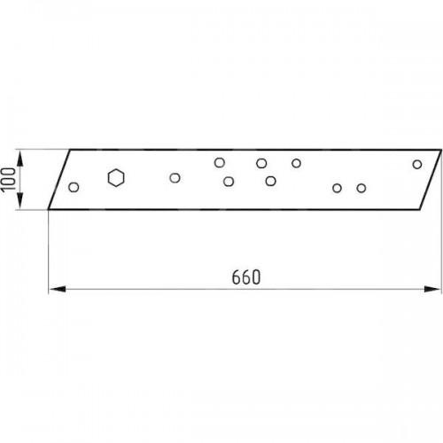 Полевая доска правая длинная 2355BD (P8903601)