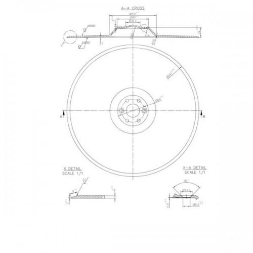 Диск сошника сеялки 340х2.5 (3N 2.5-1981-135R.40 )